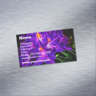 Rhododendron Magnetic Business Cards