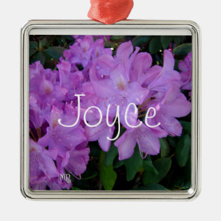 Rhododendron Necklace- personalize Silver-Colored Square Decoration