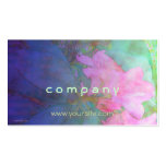 Rhododendrons Pink & Bue Watercolor Pack Of Standard Business Cards