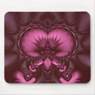 rhodolite lotus throne mouse pad