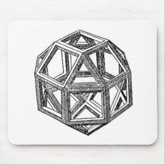 Rhombicuboctahedron, Leonardo Da Vinci Mouse Mat