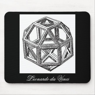 Rhombicuboctahedron, Leonardo Da Vinci Mouse Pad