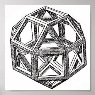 Rhombicuboctahedron, Leonardo Da Vinci Poster
