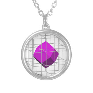 Rhombidodecahedron Round Pendant Necklace