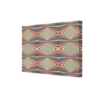 Rhombus pattern abstract design stretched canvas prints