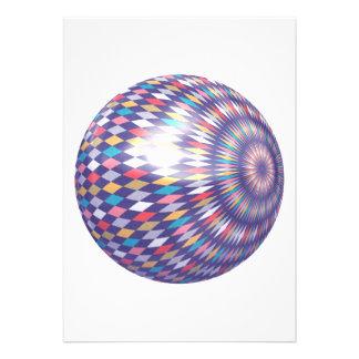 Rhombus pattern ball invitation