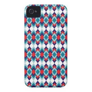 Rhombus pattern: Turquoise Case-Mate iPhone 4 Cases