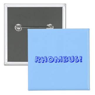 Rhombus Pinback Buttons