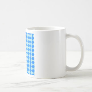 Rhombuses Large - Blizzard Blue and Azure Basic White Mug