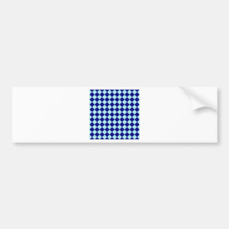 Rhombuses Large - Pale Blue and Navy Blue Bumper Stickers