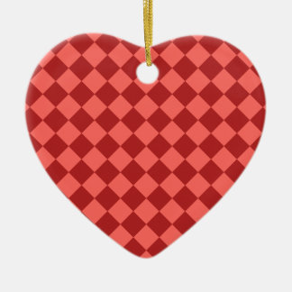 Rhombuses Large - Pastel Red and Firebrick Christmas Tree Ornament