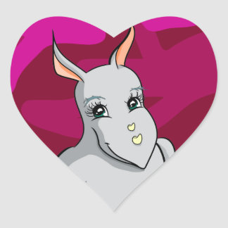 Rhonda Rhino Heart Sticker
