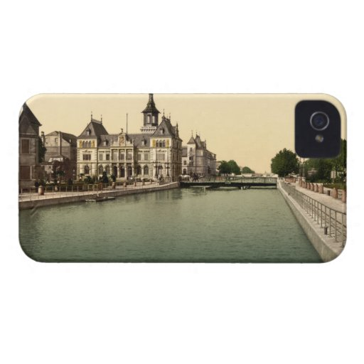 Rhone and Rhine Canal, Mulhouse, France iPhone 4 Case