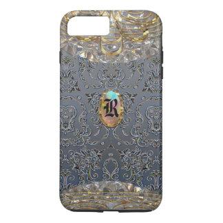 Rhosenfelt Damask Pretty Monogram iPhone 8 Plus/7 Plus Case