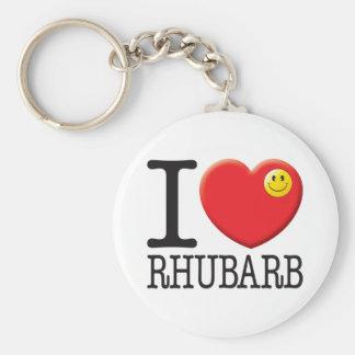 Rhubarb Basic Round Button Key Ring