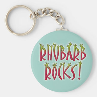 Rhubarb Rocks Basic Round Button Key Ring