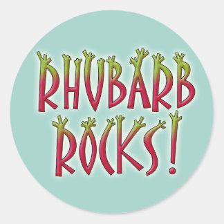 Rhubarb Rocks Classic Round Sticker