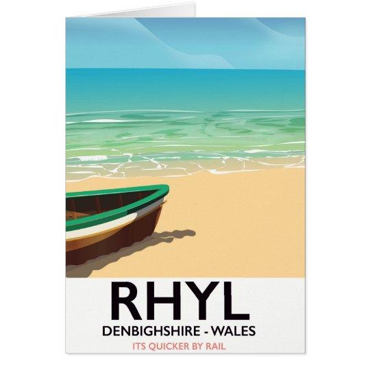 Rhyl Denbighshire wales vintage railways poster Card