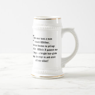 Rhymes with Orange and Silver Limerick Coffee Mugs