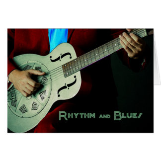 Rhythm and Blues Guitar Greeting Card