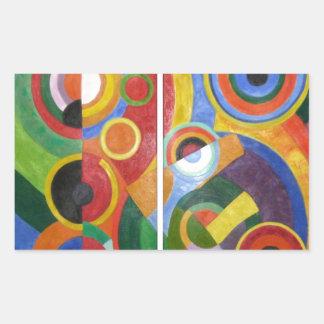 Rhythm by Robert Delaunay Rectangular Sticker