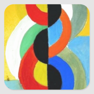 Rhythm Color by Robert Delaunay Square Sticker