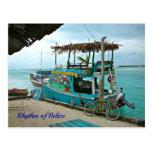 Rhythm of Belise Rasta Boat Postcard