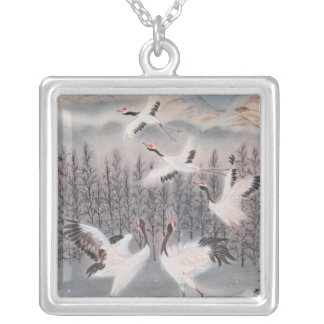 Rhythm of Winter Silver Plated Necklace