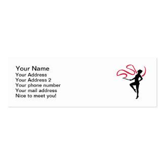 Rhythmic gymnast business card templates