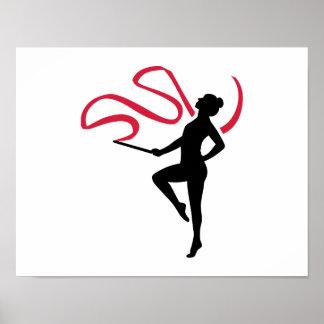 Rhythmic gymnast poster