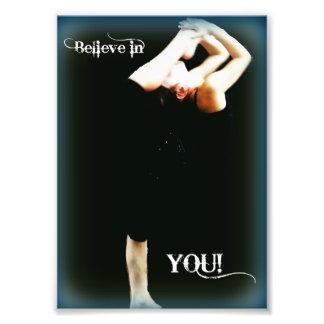Rhythmic Gymnastics art Believe in you 5x7 Photograph