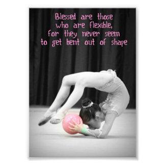 Rhythmic Gymnastics art flexible poster 5x7 Photo Art