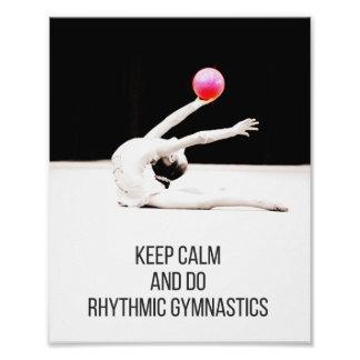 Rhythmic Gymnastics art Keep Calm 8x10 Photo