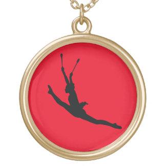 Rhythmic Gymnastics Gold Plated Necklace