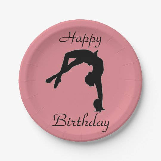 Rhythmic Gymnastics paper plates party supplies 7 Inch Paper Plate