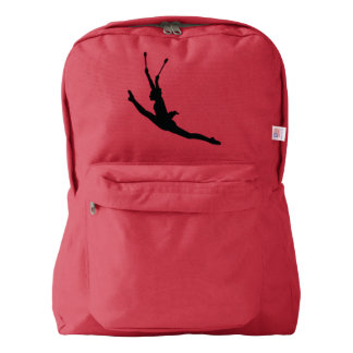 rhythmic gymnastics with ball backpack