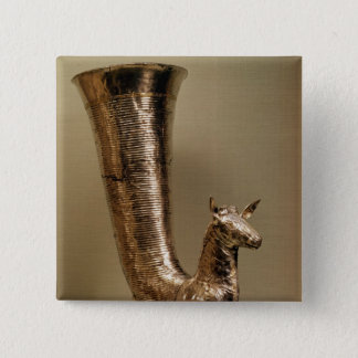 Rhyton in the form of an ibex, from Iran 15 Cm Square Badge