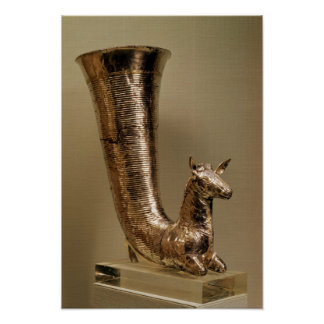 Rhyton in the form of an ibex, from Iran Poster