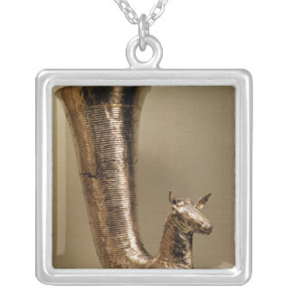 Rhyton in the form of an ibex, from Iran Silver Plated Necklace