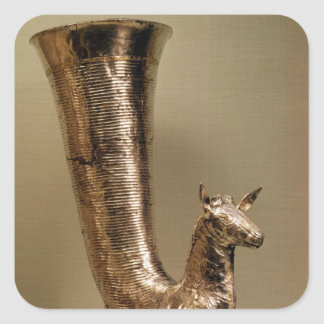 Rhyton in the form of an ibex, from Iran Square Sticker