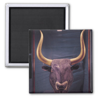 Rhyton in the shape of a bull's head, square magnet
