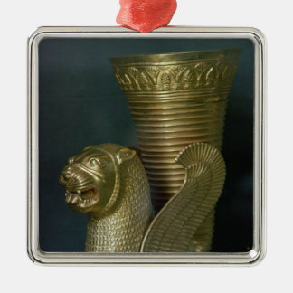 Rhyton in the shape of a seated lion-monster christmas ornament