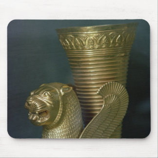Rhyton in the shape of a seated lion-monster mouse mat