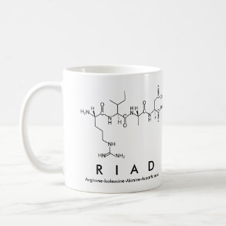 Riad peptide name mug