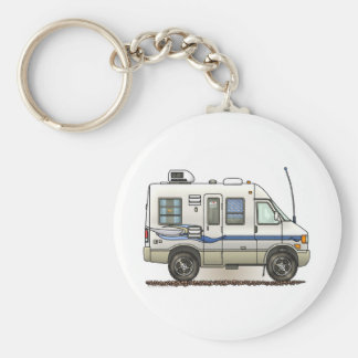 Rialta Winnebago Camper RV Basic Round Button Key Ring