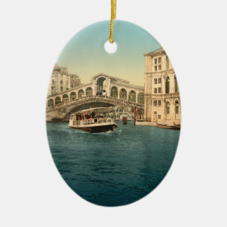 Rialto Bridge and Grand Canal, Venice Christmas Ornament