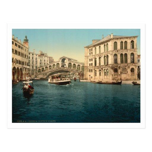 Rialto Bridge and Grand Canal, Venice, Italy Post Cards