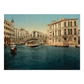 Rialto Bridge and Grand Canal, Venice, Italy Poster