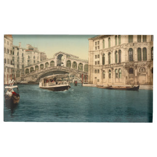 Rialto Bridge and Grand Canal, Venice, Italy Table Number Holder