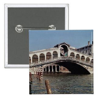 Rialto Bridge, begun 1588 15 Cm Square Badge